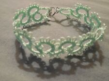 DOVE COUNTRY TATTED  BRACELETs  Tatting New Custom Shuttle Tatted
