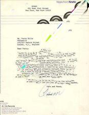 Flock The Chris Moon Booking Correspondence 16/3/70