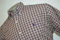 6006-a Mens Polo Ralph Lauren Dress Shirt Size Large Red Green Plaids