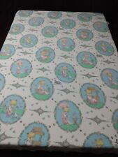 New listing Precious Moments Twin Flat Bed Sheet Craft Fabric Vintage