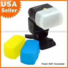 Blue+Yellow+White kit Flash Diffuser for CANON 580EX