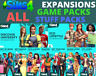 ⭐️ The Sims 4 ALL Expansions + GAME & STUFF PACKS  Origin Account  PC & Mac