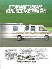 Motor Home Brochure Ad - Winnepago LeSharo - Itasca Phasar - 1985 (MH132)