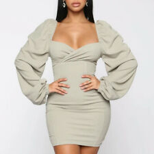 Justchicc Solid Mini Dress Women Casual Retro Square Neck Party Backless Dresses