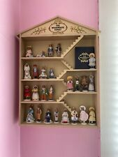 Franklin Mint Vintage The Woodmouse Family 25 Porcelain Figurines, Name Cards