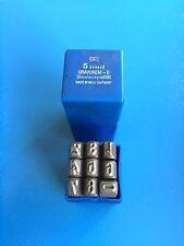 1 x SET PUNZONE numeri 5 mm - normalschrift 0-9 NUOVO