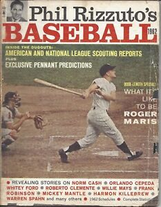 1962 Phil Rizzuto's Baseball Magazine Roger Maris, New York Yankees, POOR