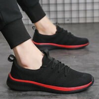 US Mens Trainers Running Gym Fitness Shoes Mesh Sneakers Lace Up Breathable New