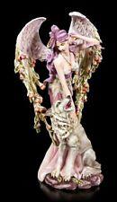 Ángel Figura 53cm - Lupiana streichelt lobo - Fee elfe Estatua Hadas