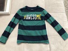 Boys Gap Size 6-7 Long Sleeve Shirt Green Awesome