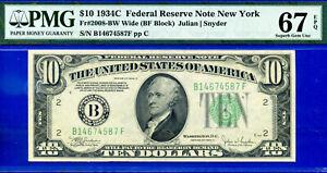 TOP POP 1/0 - 1934-C $10 FRN (( SOLE Finest - BF Block )) PMG 67EPQ # B4674587F-