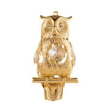 SWAROVSKI CRYSTAL ELEMENT STUDDED OWL FIGURINE ORNAMENT 24K GOLD PLATED