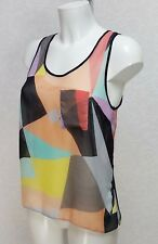 Miss Selfridge petite Multi color Sheer chiffon sleeveles round neck tank top 10