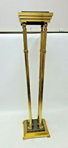 Italian Regency Style Brass and Granite Pedestal Plant Stand with Paw Feet