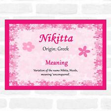 Nikitta nombre significado Rosa Certificado