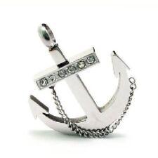 Catena D'ancoraggio Ciondolo In Acciaio Inox Collana Catenina Con Sfere Ancora