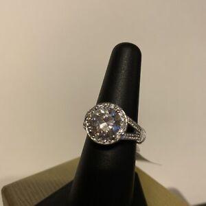 Bella Luce Dillenium Cut White Diamond Sim. Ring 5.40 CTW Size 7