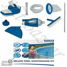 Pool Maintenance Kit Deluxe Swimming Cleaning Above Suction Vacuum Skimmer Brush