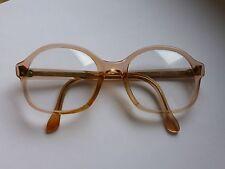 ORIGINALE 70er Metzler True Vintage Occhiali per donna trasparente natura albicocca
