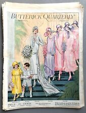 More details for vintage 1920s butterick quarterly winter 1924/1925 sewing pattern catalogue