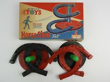 Vintage 1964 Auburn Toys Horseshoe Set no. 707 Safe Play Rubber Mint in Box