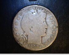 1908-D US Barber Half, Circulated Average Grade .3617 Oz Silver (US-5563)