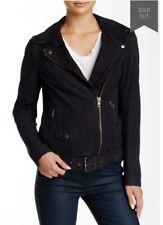 MUUBAA M0615 Matt Black Narayan Blouson Leather Biker Jacket UK12