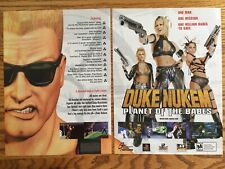 Duke Nukem: Planet of the Babes Playstation PS1 PS 2000 Game Poster Ad Art Print