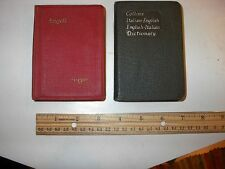 Bundled pocket language dictionary, translators: 1948 Nederland & 1954 Italian
