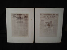 SCARCE SPANISH AMERICAN WAR PHOTO'S ~ RALLY ROUND THE FLAG ~ PA NEWSPAPER