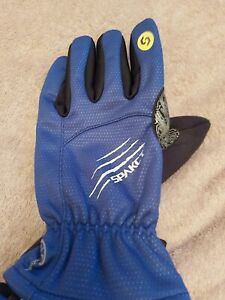 Spakct Winter Cycling Gloves (Full Finger), Blue, SizeXLarge - Brand New