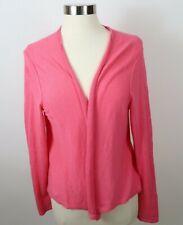 J Jill Womens Linen Rayon Blend LS Pink Open Front Shrug Cardigan Sweater Large
