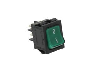 Einbau Wippenschalter Grün 250V/16A 2-polig beleuchtet I/O High Quality
