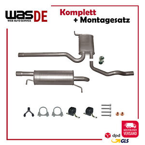Komplette Auspuffanlage ab Kat VW Passat B5 1.8, 2.0 Schalldämpfer Auspuff
