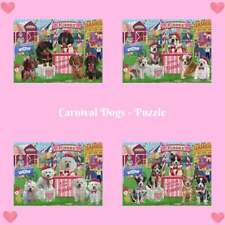 Carnival Kissing Booth Dog Cat Jigsaw Puzzle, Pet Photo Lovers Kids Toy