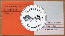 SALES BROCHURE ~ 1953 CORVETTE ~ BROWN