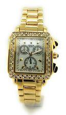 Ladies Geneva Elegant Modern Square White Rose Gold Metal Bracelet Fashion Watch
