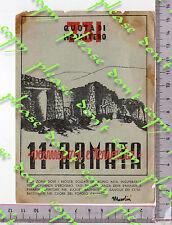 b65/13 FRANCHIGIA ILLUSTRATA 11 ARMATA 9 GRUPPO CANNONI 149 P.M. 121  VIAGG 1943