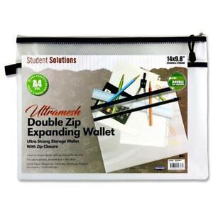 B4+ Ultramesh Double Zip Mesh Wallet - Clear