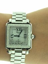 Chopard Happy Sport Happy Diamonds Watch, 278358-3006 White gold bezel.