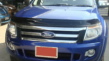 FORD RANGER T6 12 13 14 TINTED ACRYLIC BLACK BONNET PROTECTOR STONE & BUG GUARD