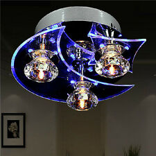 Star & Moon Retro Dining Room Crystal Chandelier Ceiling LED Light Pendant Lamps