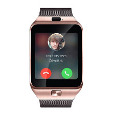 Gold Bluetooth Smart Watch Sports GSM SIM Phone For Android iPhone Samsung