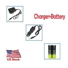 5800mAh Li-ion 18650 Rechargeable Battery For Headlamp Torch +AC/Car ChargerY