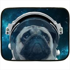 Hot New Pug dog in galaxy for Mini Fleece Blanket Free Shipping
