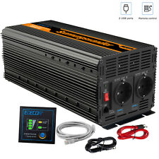 EDECOA Power Inverter DC 12V 3000W AC 220V 6000W Convertitore Softstart 2.1A USB