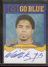 TK LEGACY MICHIGAN AUTOGRAPH WILLIS BARRINGER MGB141