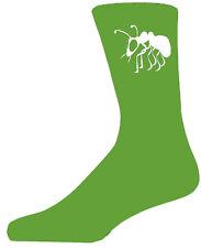 Alta Qualità Calze verde con una ANT BIANCO, bellissimo regalo di compleanno