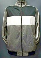 Men's Rebel Minds Full Zip Grey Black and White Track Jacket - Gray
