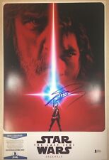 "Star Wars JOHN BOYEGA ""The Last Jedi"" Signed 12x18 Mini Movie Poster BECKETT BAS"